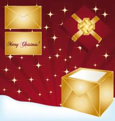 Gifts background vector