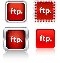 Ftp icons vector