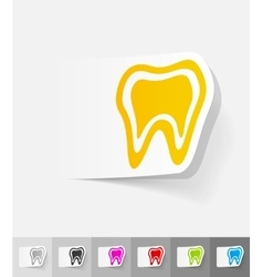 Realistic design element tooth vector