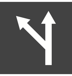 Left turn ahead vector