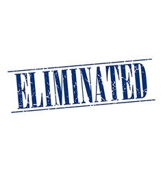 Eliminated blue grunge vintage stamp isolated on vector