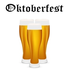 Glasses of beer on a white background vector