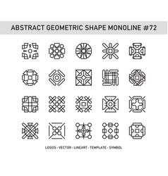 Abstract geometric shape monoline 72 vector