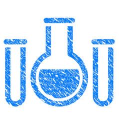 analysis glassware grunge icon vector image