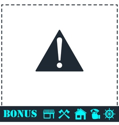 Attention icon flat vector