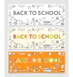 Back To School Doodle Concept vector image
