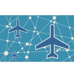 Banner with the image of an aircraft icon vector image vector image