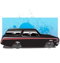 BlackWagon copy vector image vector image