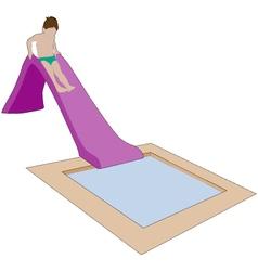 Child on water slide vector