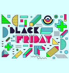 design poster for black friday sales vector image vector image