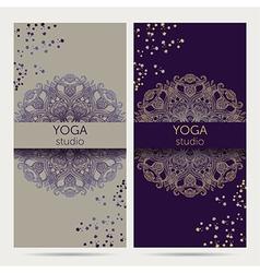 Design template for yoga studio vector