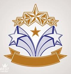 Detailed luxury symbol aristocratic heraldry vector