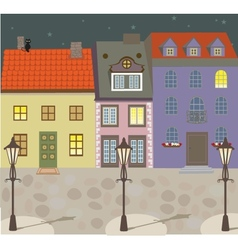 European vintage style building vector