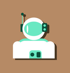 Flat icon design collection astronaut suit in vector