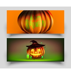 Halloween Card Set vector image vector image
