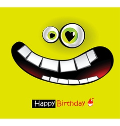 Happy Birthday smiles vector image vector image