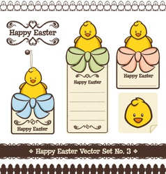 happy easter set no 3 vector image