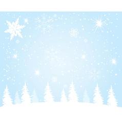Lanscape winter vector