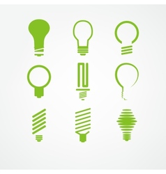 lightbulb icon set vector image