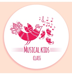 Music kids logo vector
