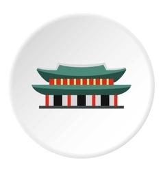 Pagoda in south korea icon flat style vector