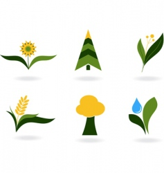 plant icons vector image vector image