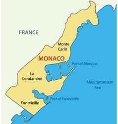 Principality of monaco - map vector