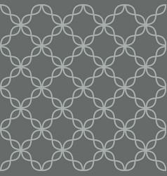 Quatrefoil line seamless pattern vector