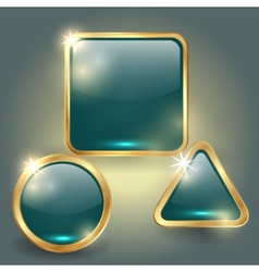 set of glass button templates vector image vector image