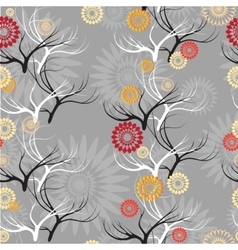 set seamless patterns with branches vector image vector image