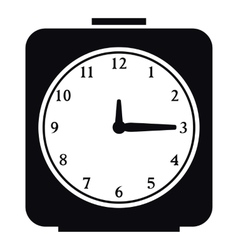Square alarm clock icon simple style vector