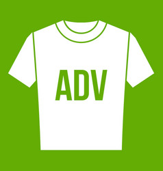 t-shirt with print adv icon green vector image vector image