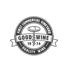 Vintage winery label vector