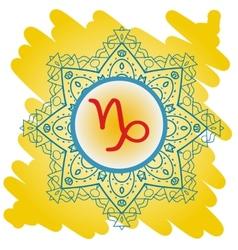 Zodiac sign the goat capricorn vector