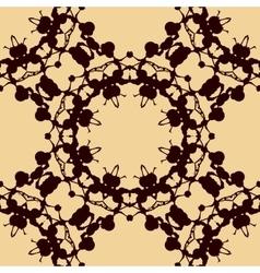 Design rorschach inkblot test brown on yellow vector