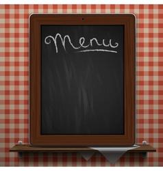 Menu blackboard background vector image