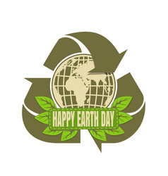 Happy earth day design vector