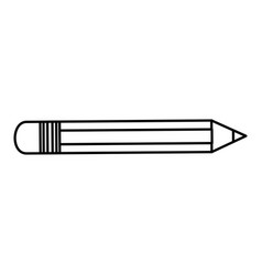 Pencil school device icon vector