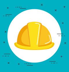 Construction helmet icon hard hat builder vector