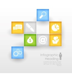 Business infographics chart vector