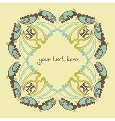 Floral ornate background vector image