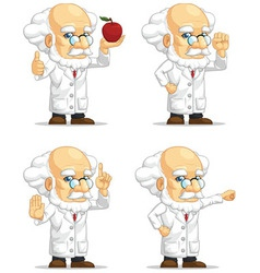 Scientist or professor customizable mascot 9 vector
