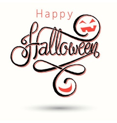Halloween card light red vector