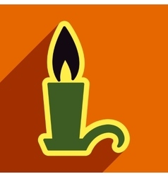 Flat with shadow icon candlestick bright vector