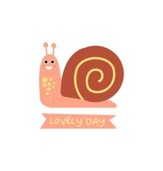 Cute snail with a sign for text vector