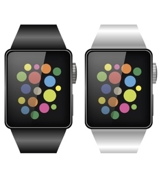 Two smart watches vector