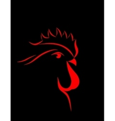 Abstract cock 2017   isolated vector