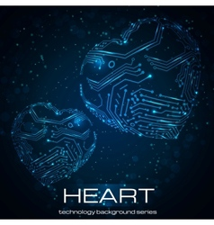 Abstract technology heart vector image