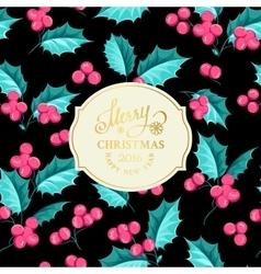 Christmas mistletoe branch vector image vector image