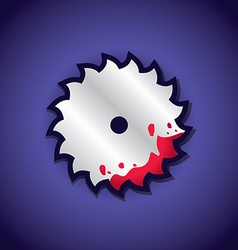 Circular saw label vector